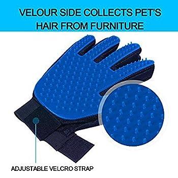 Gant pour poils d'animaux Magic Animal Gant de massage chien chat Fourrure Brosse de bain épilateur Toilettage Gant en caoutchouc Grooming