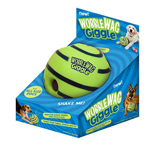 Allstar Innovations Wobble Wag Giggle Ball Hundespielzeug, As Seen On TV (On Tv Hund-ball-as Seen)