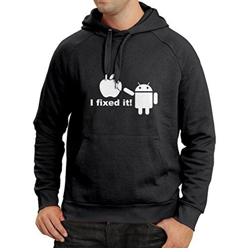 Felpa-con-cappuccio-Android-Robot-and-the-Apple