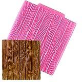 KXCLL 4 Piezas Color Aleatorio Corteza de árbol Textura Patrón de Madera Estera Fondant Molde de Silicona Decoración de Pasteles Molde de azúcar Hornear Sugarcraft Molde de Chocolate