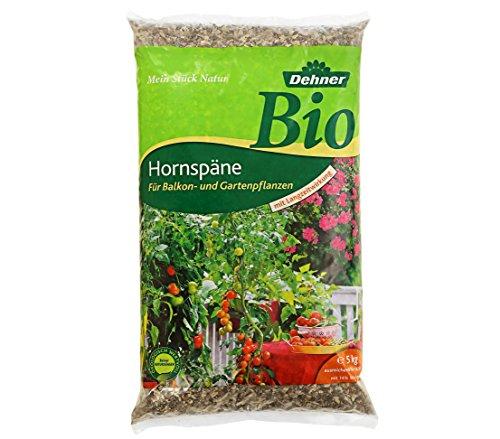 Dehner Bio Dünger, Hornspäne, für Balkon- und Gartenpflanzen, 5 kg, für ca. 50 qm