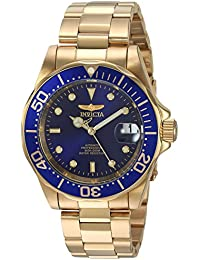 Gold Tone Stainless Steel Pro Diver Blue Dial Automatic