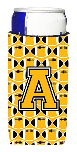 letter-a-football-black-old-gold-and-white-michelob-ultra-koozies-for-slim-cans-cj1080-amuk