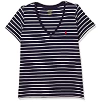 Polo Ralph Lauren Top For WOMEN L, NVY/WHT