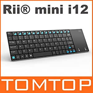 Rii mini i12 Multifunction Wireless 2.4G Keyboard QWERTY Touchpad Ultra Slim for Sony PS3 HTPC Android TV BOX