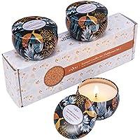 Anjou Velas Aromaticas Románticas Set de 3 Velas (Cera de Soja Fragancia, 13 Horas de Tiempo de Cocción por Taza, 3 x 60 g) Regalo de Navidad para Novia, Mujer
