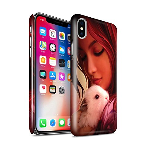 Offiziell Elena Dudina Hülle / Glanz Snap-On Case für Apple iPhone X/10 / Hyazinthe Muster / Die Tiere Kollektion In meine Arme/Safe