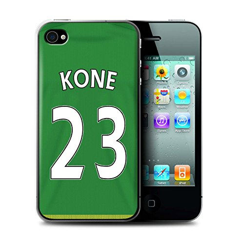 Officiel Sunderland AFC Coque / Etui pour Apple iPhone 4/4S / Pack 24pcs Design / SAFC Maillot Extérieur 15/16 Collection Kone