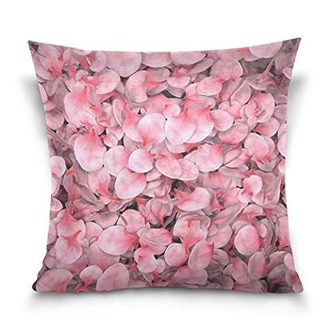 Carré Couvre-lit décoratif Taie d'oreiller Housse de coussin, pétales de fleurs Filles comme Rose roses, doux Taie d'oreiller