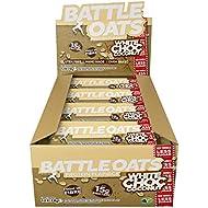 Battle Oats High Protein Gluten Free Flapjacks Protein Bar, New Low Sugar Formula, 12 x 70g - White Chocolate Coconut
