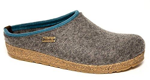 Pantofole HAFLINGER KRIS art. 7110564 in lana cotta grigio (ANTTHRAZIT 04)