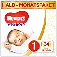 Huggies Windeln Ultra Comfort Newborn Baby Größe 1 Halbmonatsbox, 1er Pack (1 x 84 Stücke)