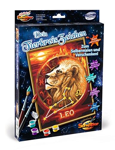 Preisvergleich Produktbild Schipper 609390676 - Malen nach Zahlen - Tierkreiszeichen Löwe, 18 x 24 cm