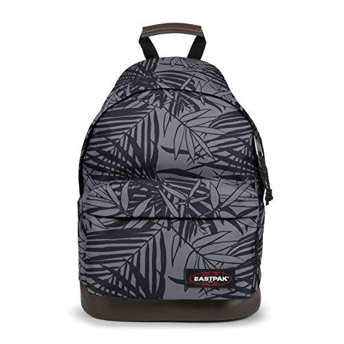 Eastpak Wyoming Rucksack, 40 cm, 24 L, Schwarz (Leaves Black) -