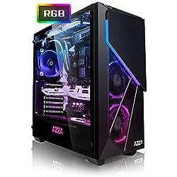 Megaport PC Gamer Quest Intel Core i7-9700 8X 3,00 GHz • GeForce RTX2070 8Go • 16Go DDR4 • 480Go SSD • 1To • Windows 10 • WiFi Unité Centrale Ordinateur de Bureau PC Gaming Ordinateur Gamer
