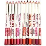 Joyjorya 12 colores profesional lipliner Agua Densidad Lip Liner Lippenstift contornos lápiz labial con tapa