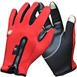 #5: AutoSun Windproof Touchsreen Warm Gloves Riding Motorcycle,Car,Bicycle Gloves Touch Screen (XL, Red)