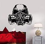 Xzfddn Jungen Zimmer Dekor Gasmaske Geschenk Für Jungen Teen Raumdekoration Vinyl Wandaufkleber Gasmaske Wandtattoos Jungen Zimmer Wandbild