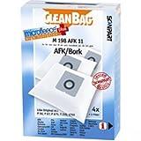 CleanBag M 198 AFK 11 Staubbeutel, wie Original: P 56 / P 67 / P 675, T 210, 1750, Inhalt: 4 Staubsaugerbeutel + 1 Universalfilter
