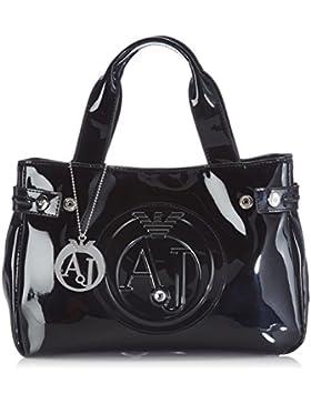Armani Jeans 0523555 0523555 Damen Shopper 28x20x9 cm (B x H x T), Schwarz (Nero - Black 12)