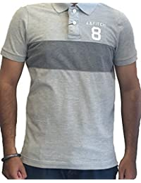 Abercrombie & Fitch Mens Short Sleeve Muscle Fit Polo T-Shirts Colour Grey IMPORTED FROM USA
