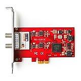 TBS6281SE Carte PCIe Double Tuner DVB-T/T2 et DVB-C pour la réception télévision par TNT et Câble en HD - DVB-T2/T/C TV Tuner PCIe Card