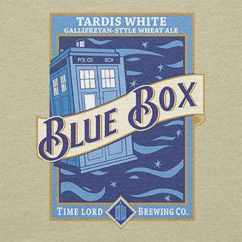 Texlab–Blue Box White Ale–sacchetto di stoffa Naturale