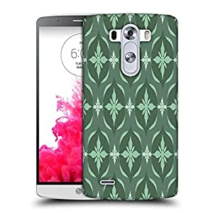 Snoogg Green Pattern Printed Protective Phone Back Case Cover For LG G3