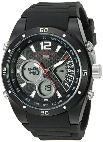 U.S. Polo Assn. Sport Men's US9537 Analog-Digital Display Analog Quartz Black Watch