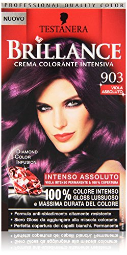 Testanera - Brillance, Crema Colorante Intensiva, 903 Viola Assoluto - 1 confezione