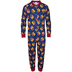 FC Barcelona - Pijama de una pieza para niños - Producto oficial - 5-12 años
