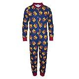 FC Barcelona - Kinder Schlafanzug-Overall - Offizielles Merchandise - Geschenk für Fußballfans - 11-12 Jahre