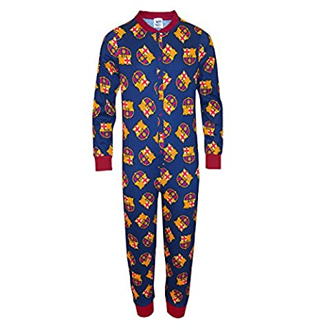 FC Barcelona Official Football Gift Boys Kids Pyjama All-In-One Navy 11-12 Years