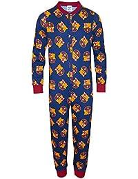 FC Barcelona Officiel - Combinaison de Pyjama thème Football - Enfant