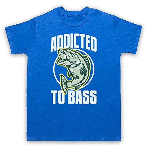 Addicted To Bass Bass Fish Herren T-Shirt Blau
