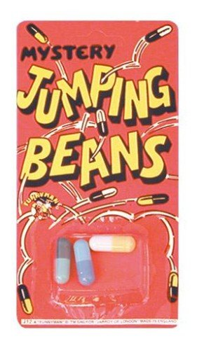 Jumping Beans (3)Pk12 Traditional Novelty Jokes Gags & Tricks | Party Gift Favors & Handouts | Stocking Fillers by JUMPING BEANS