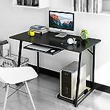 Dland Escritorios 120x60cm Mesa de Ordenador Escritorio de Oficina Mesa de Estudio Puesto de trabajo Mesa de Despacho, Negro 2