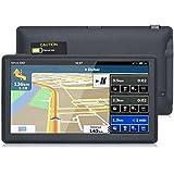 """7"""" GPS Auto Moto Voiture 16GB, Android Système d'Operation 4.4.2, Wifi Bluetooth Écran HD Tactile, Intégrer le Système des Instructions Vocales, Multi-languages (Gratuits Cartographie d'Europe Mode à Vie)"""