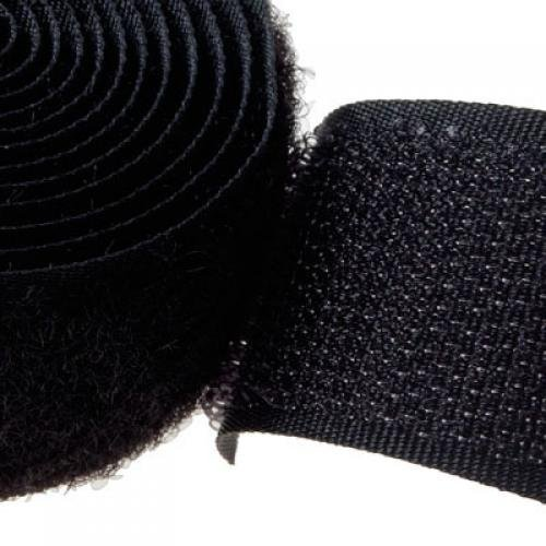 Generic SZS Hot 1 Yard Sew-On Hook and Loop Tape Black 36 x 1 inch