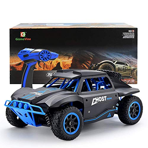 GizmoVine RC Coche Teledirigido 4WD Talla Grande Alta Velocidad Rock Crawler Vehículo 25KM/H 2.4Ghz Control Remoto de Radio Fuera del Camino Carreras Monster Truck Curso Corto (Azul)