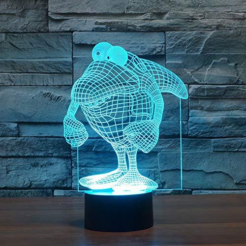 Nmdztz Nachtlicht Lampe Star Wars-energiesparende Tabelle 3d des Haifischs 3d führte Licht des Usb-3d