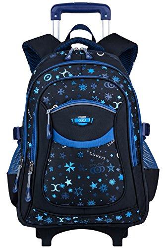 Trolley Rucksack, Coofit Schulrucksack Trolly Schultrolley Kinder Schulranzen Trolley Kinderkoffer Trolley Tasche für Mädchen Jungen