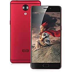 Elephone P8 6GB RAM + 64GB ROM Smartphone, 2.5GHz Octa Core, Dual Kamera 16MP + 21MP, Dual SIM, 5.5 Zoll FHD LTE 4G Android 7.0 Handy ohne vertrag - Rot