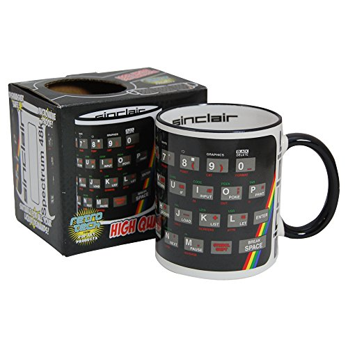 Sinclair ZX Spectrum Keyboard Mug in gift box