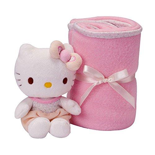 Hello Kitty - Conjunto manta peluche baby