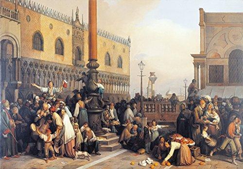 Extraction of A Lottery In Saint Marc Square (Estrazione Del Lotto In Piazza San Marco) Poster Drucken (91,44 x 60,96 cm)
