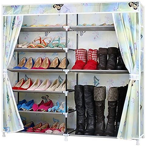 Il sommario di Oxford scarpe di tela rack e polvere creativi dove n panno armadi di scarpe scarpe ripiano per la danza della farfalla medley 117*120*30cm - Danza Medley