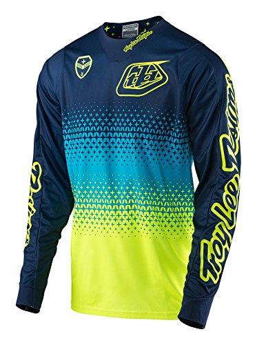 casacca-mx-troy-lee-designs-2017-se-starburst-flourescent-giallo-blu-scuro-xl-giallo