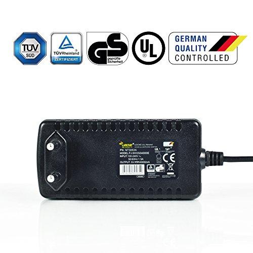 LEICKE Alimentatore 20W 5V 4A Micro USB | Con interruttore di alimentazione | Compatibile con Bose Soundlink Color Mini II, Smartphone, Hard Disk, Powerbanks ecc. | Certificato TÜV