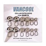 "Vancool 12pcs Metal botón extensores para pantalones, faldas, vaqueros, cuellos de camisa(0.38""/0.59""/0.74"")"